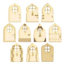 Pack of 10 Fairy Doors - 10 designs to chose from - Laser Cut 3mm MDF AA-AK
